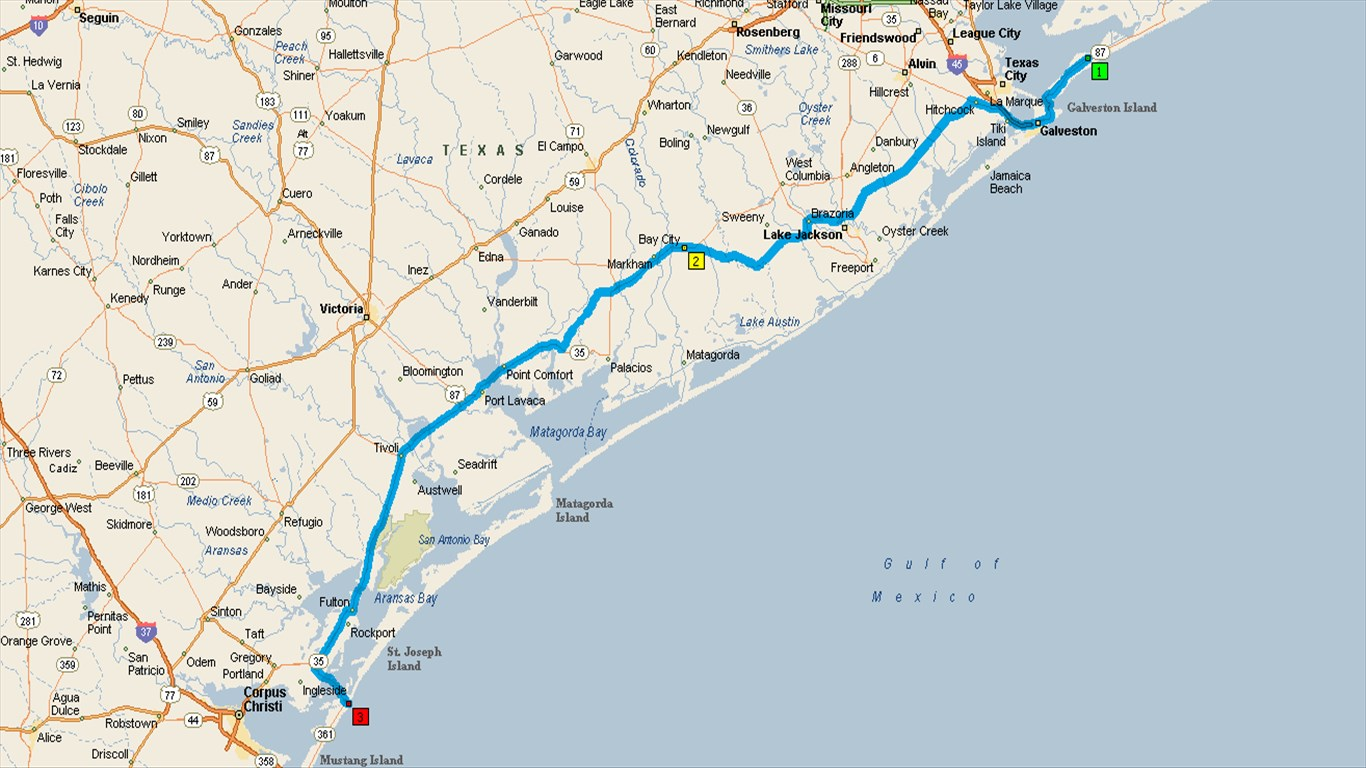 Day 7 Bolivar Rv Crystal Beach Tx To Port Aransas Milestx Nueces Pk 223